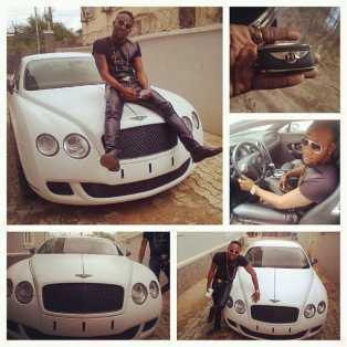 Kcee acquires white Bentley