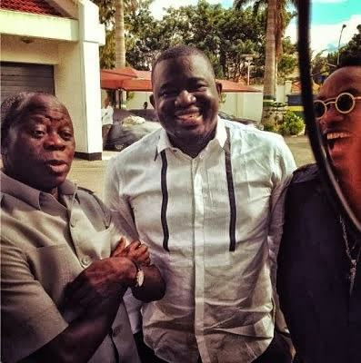 Kcee spotted with Adams Oshiomole & Donald Duke