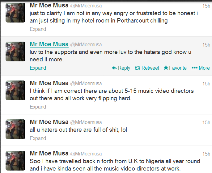 All you haters out there are full of shit! - Moe Musa speaks out