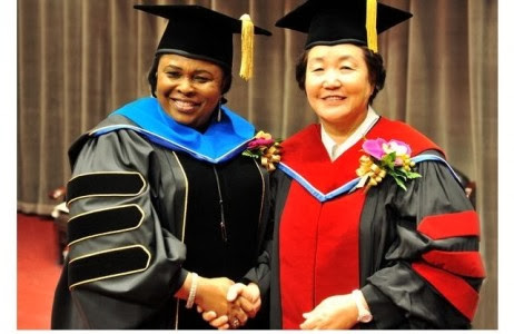 Patience Jonathan honoured with Doctorate Degree in South Korea