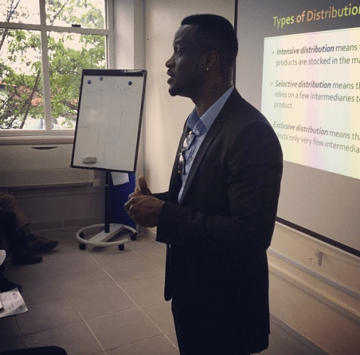 Peter of Psquare giving lecture on Entrepreneurship at CBN