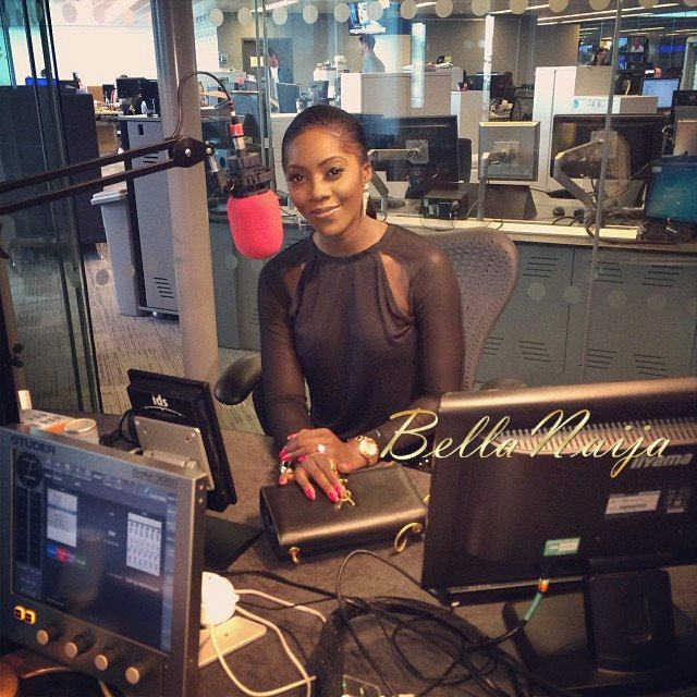 Tiwa Savage at BBC radio station in UK