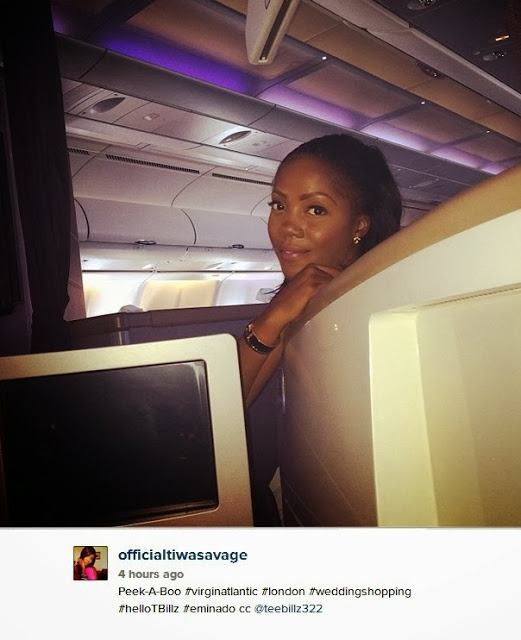 Tiwa Savage off to London to shop for her wedding