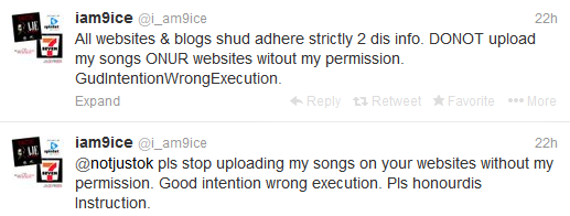 9ice warns bloggers not to upload his songs on their blogs
