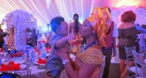Anita Isama spotted with son, Andre