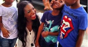 Annie Idibia and family