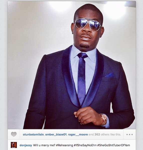 Don Jazzy getting set to propose