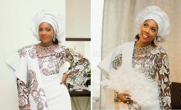 First pic of the stunning bride, Tiwa Savage