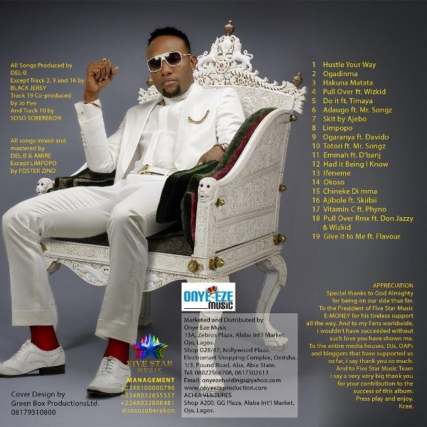 KCEE - Take Over tracklist