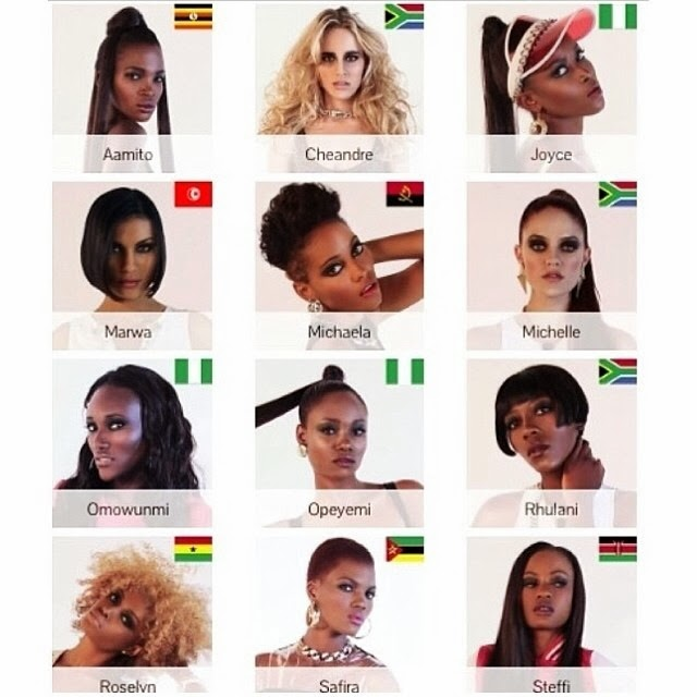 Meet the final 12 for Africa's Next Top Model by Oluchi