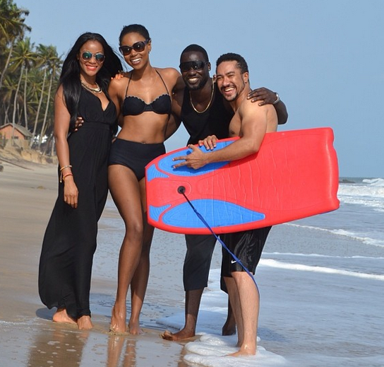 Yvonne Nelson, Chris Attoh and Majid Michel