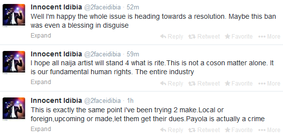 2Face Idibia speaks on banning music on air