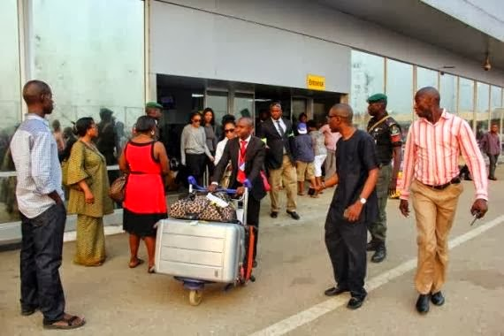 Angela Simmons arrives Lagos for 2013 Music Meets Runway event