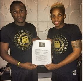 Iyanya and Made Men Music Group officially sign Tekno