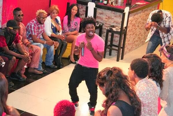 Jhybo performing at The Next Movie Star Africa House Party
