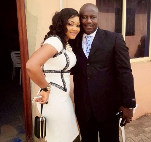 Mercy Aigbe with Lanre Gentry