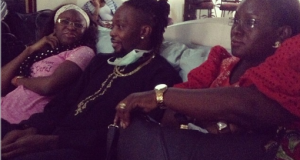 OJB and wife at Dele Momodu's home in Ghana