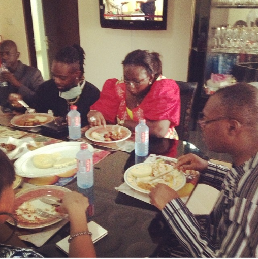 OJB and wife visit Dele Momodu's home