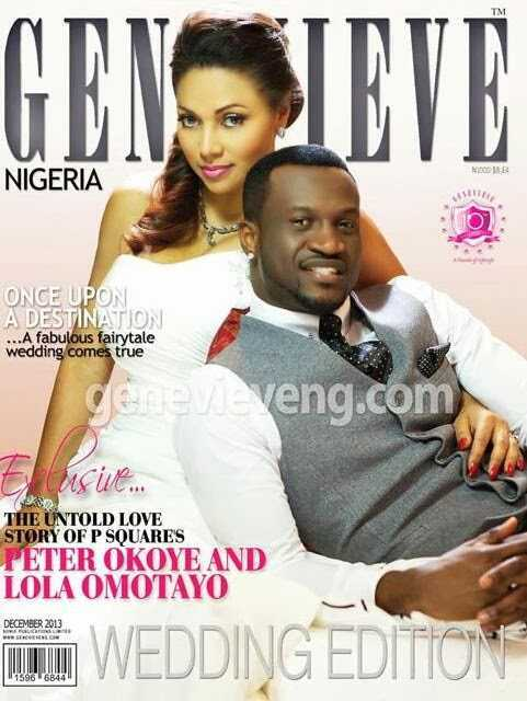 Peter and Lola Okoye cover December issue of Genevieve mag
