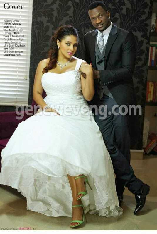 Peter and Lola Okoye cover December issue of Genevieve magazine