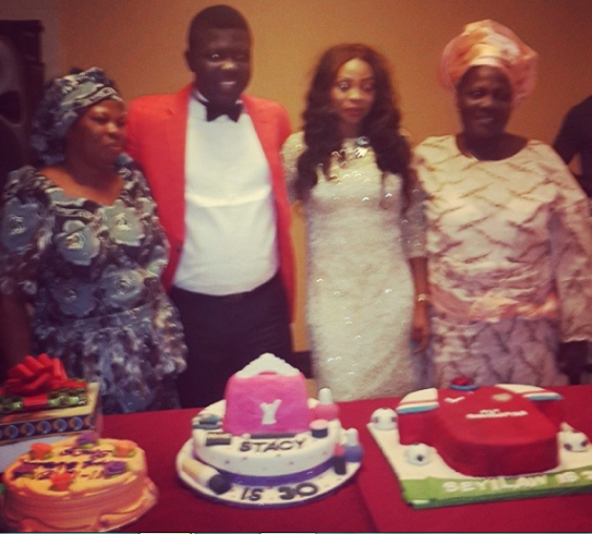 Seyi Law's wife surprise birthday party