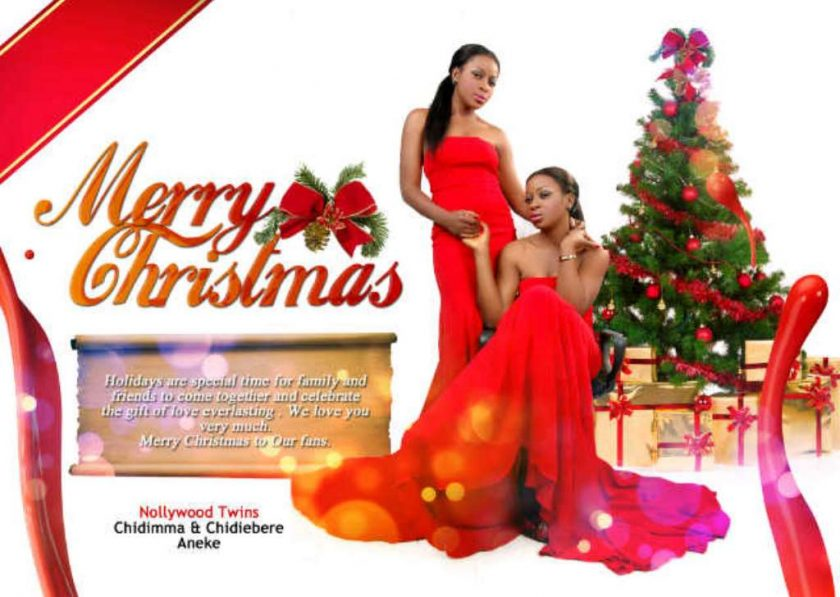 The Aneke twins release their christmas card