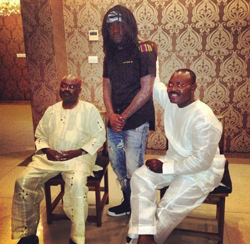 Wale, his dad and uncle