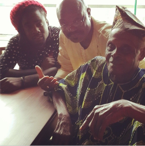 Wale with his dad and grandfather