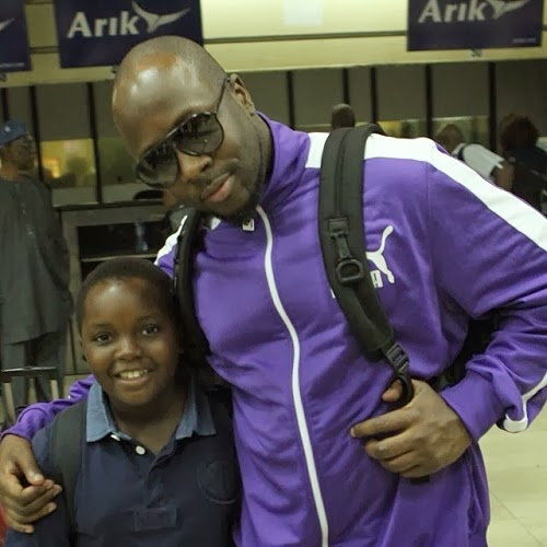 Wyclef Jean with Dele Momodu's son