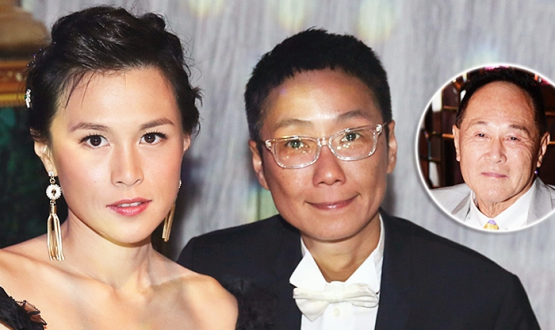 Cecil Chao and his daughter