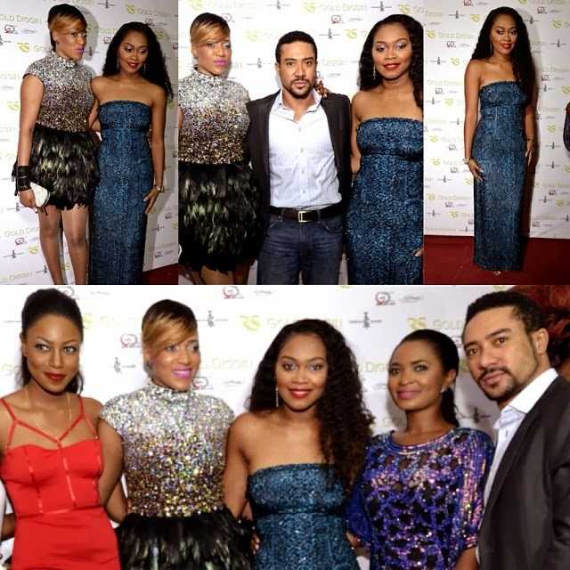 Celebrities at Rukky's Gold Digging movie premiere