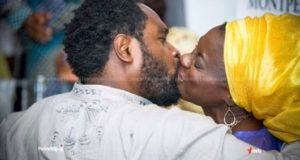 Cobhams Asuquo spotted kissing his wife