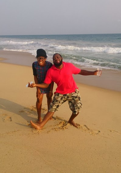 Dbanj's personal assistant at the beach