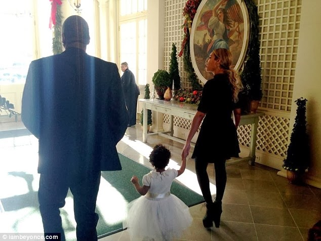JayZ, Blue and Beyonce in the white house