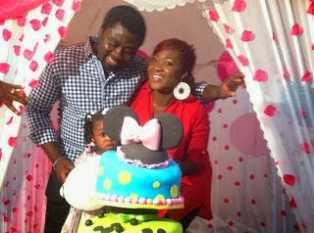 Mercy Johnson celebrates as her daughter Purity turns one
