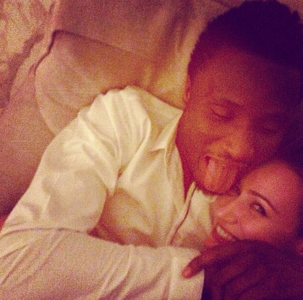 Mikel Obi with Russian girlfriend