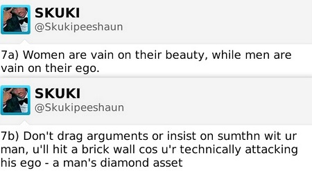 Peeshaun of Skuki's advice to ladies