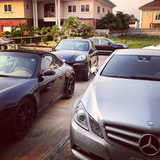 Wizkid, Don Jazzy and D'Prince Cars