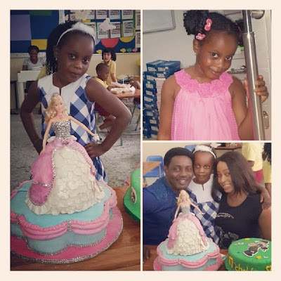 AY and wife celebrates daughter's 6th birthday at school