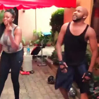 Banky W and Waje workout