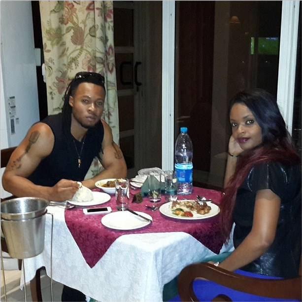 Flavour and Dillish Matthews Enjoy Intimate Dinner