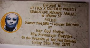 Goldie's God Mother donates building to Catholic Church in her memory