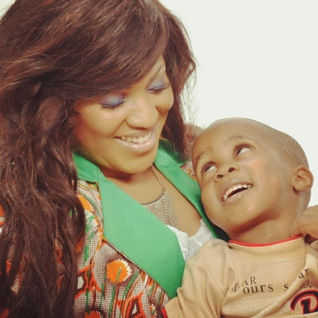 Grace Amah with her son