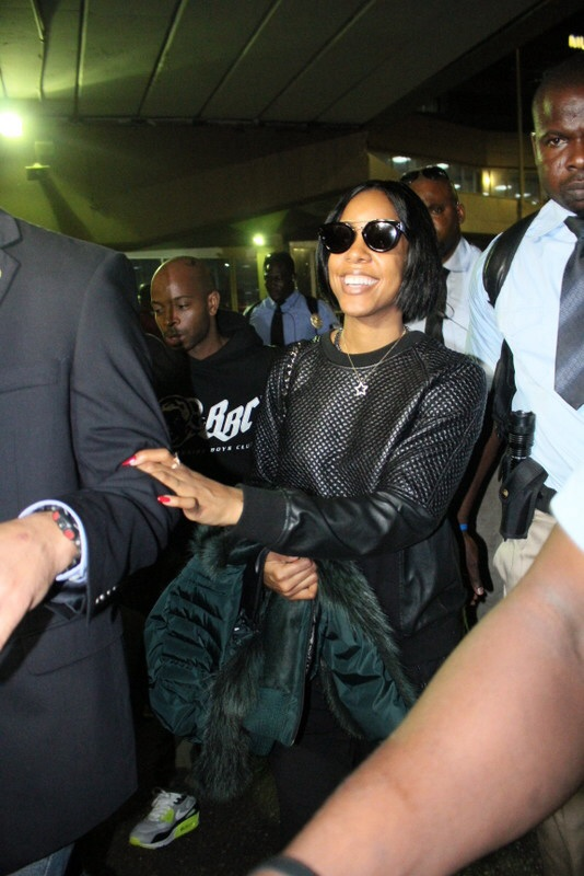 Kelly Rowland arrives Lagos for Love like a movie concert
