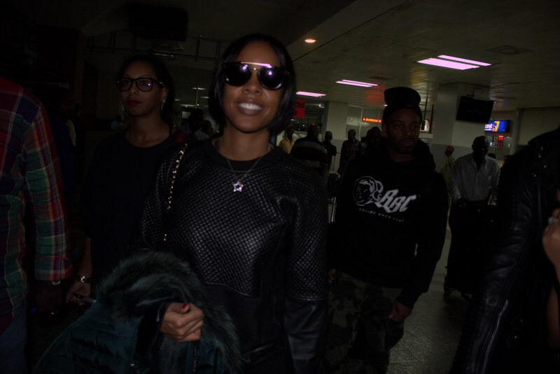 Kelly Rowland arrives Lagos for Love like a movie