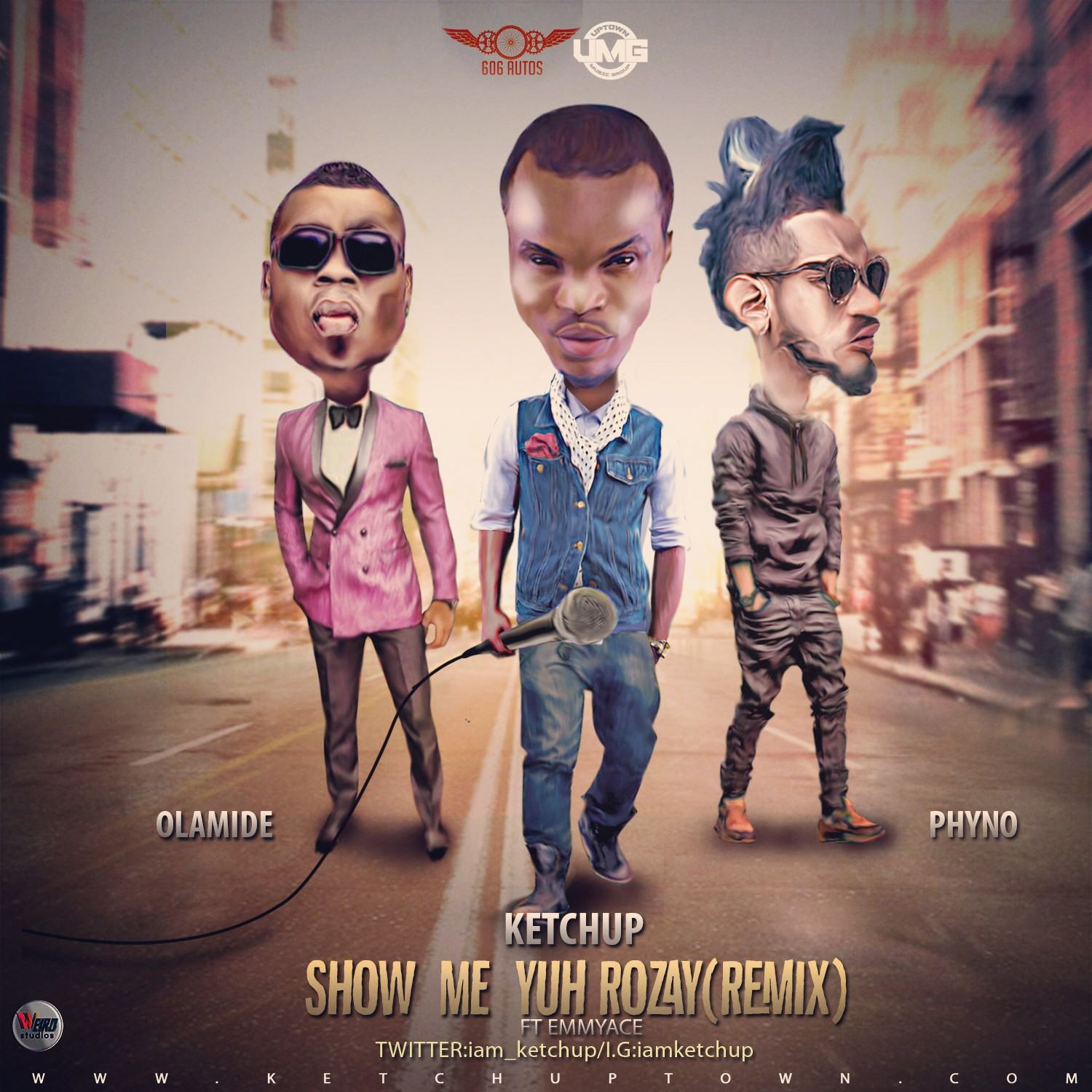 KetchUp - Show Me Yuh Rozay remix ft Olamide & Phyno [AuDio]