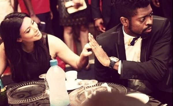 Kim kardashian and Basketmouth