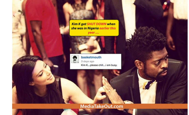 Mediatakeout mocks Kim kardashian's photo with Basketmouth