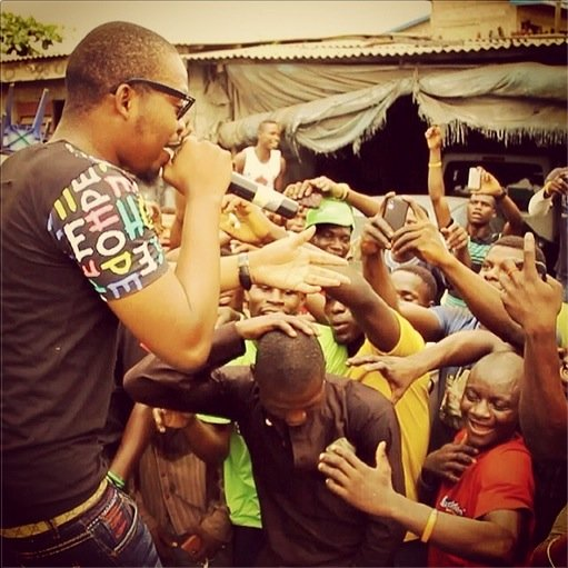 Olamide perform at Ladipo Street for Free