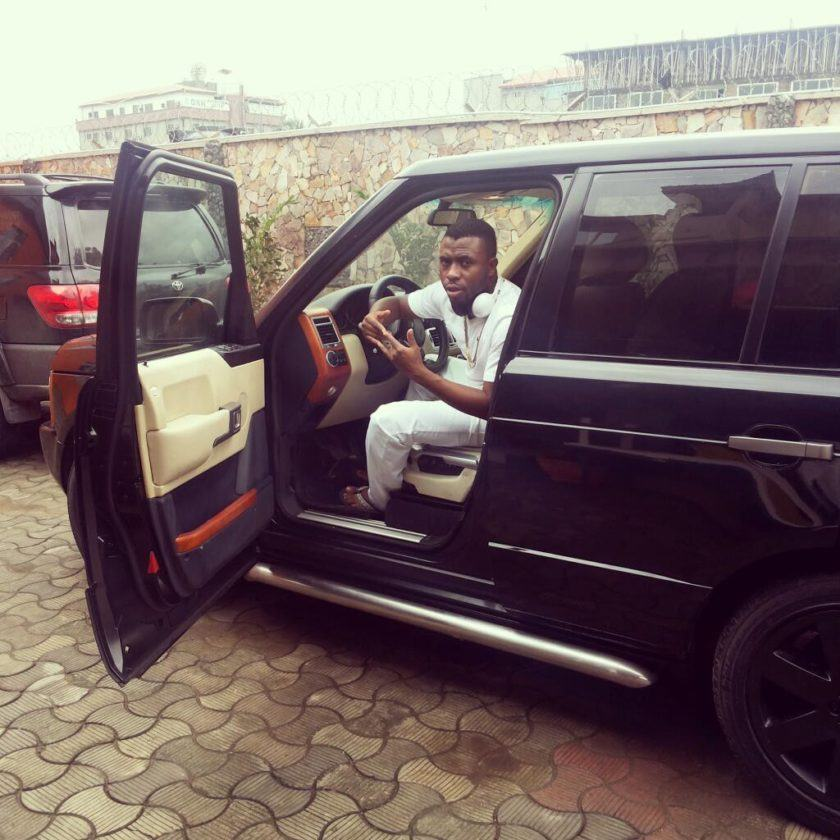 Samklef inside his Range-Rover